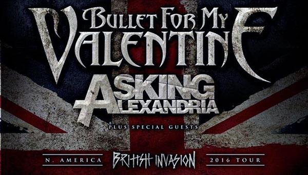 Bullet For My Valentine & Asking Alexandria Nordamerika Tour 2016