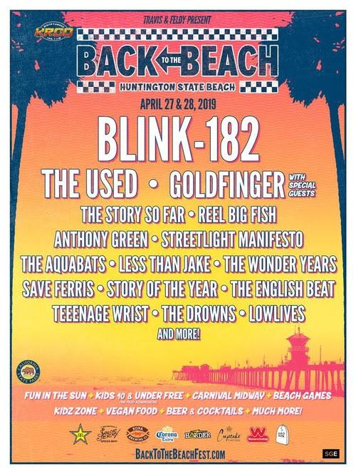 Das Back To The Beach Festival kehrt zurück nach Huntington Beach mit blink-182, Goldfinger und The Used