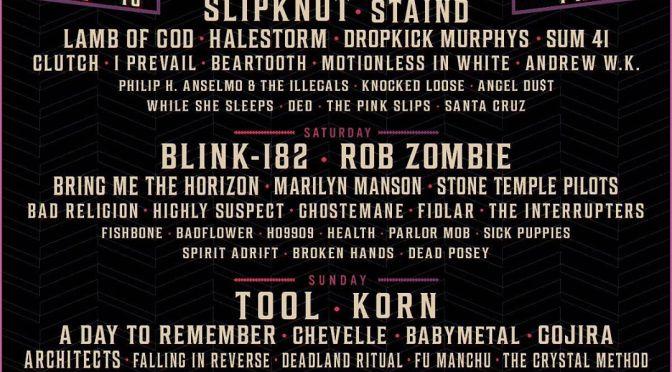 Aftershock Festival verkündet 2019 Lineup mit Slipknot, Blink 182 und Tool