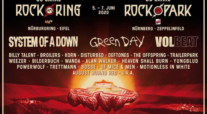 Rock am Ring verkündet Headliner System of a Down, Green Day und Volbeat