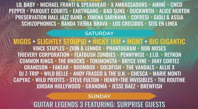 Wonderfront Festival mit MGMT, Pennywise, Miguel und Migos verkündet Tagesaufteilung